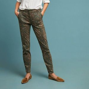 Anthropologie Cadet Utility Printed Pants